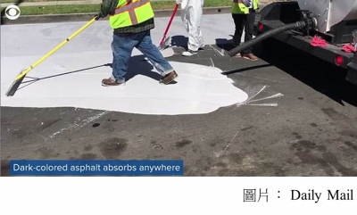 Los Angeles paints its streets WHITE to beat sizzling summer heat as part of 20-year plan to combat the effects of climate change (Daily Mail - 20180410)