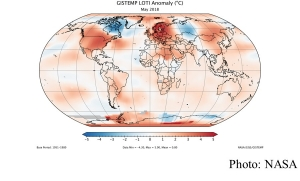 May 2018 was fourth warmest May on record (NASA - 20180618)