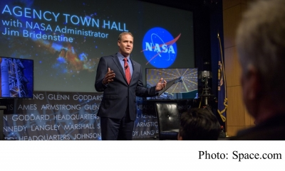New NASA Chief Bridenstine Says Humans Contribute to Climate Change 'in a Major Way' (Space.com - 20180519)